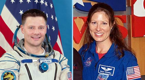 Astronautas Doug Wheelock  e Tracy Caldwell Dyson