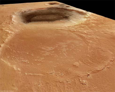 Cratera de impacto em Marte