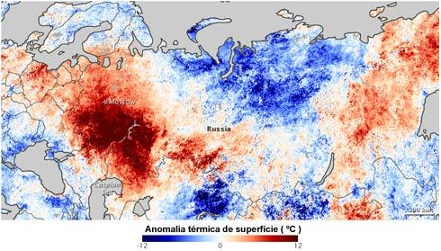 Anomalia térmica na Europa em agosto de 2010
