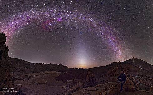 Luz Zodical registrada na Ilha de Tenerife