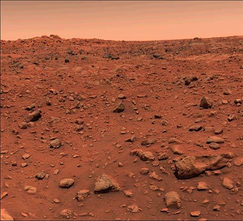 Primeira foto da superfície de Marte feita pela sonda Viking