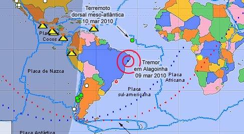 Painel Global mostra tremor de terra em Alagoinha, Pernambuco