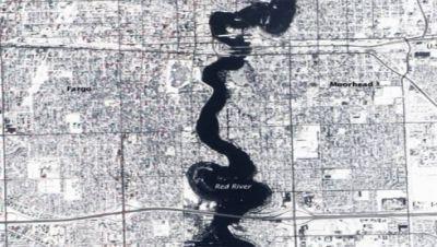 Rio Vermelho, cidade de Fargo, USA