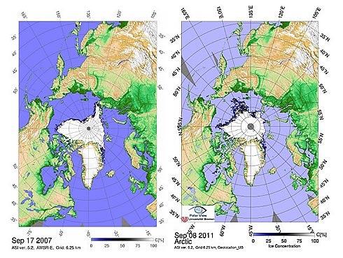 Recorde de derretimento do gelo polar