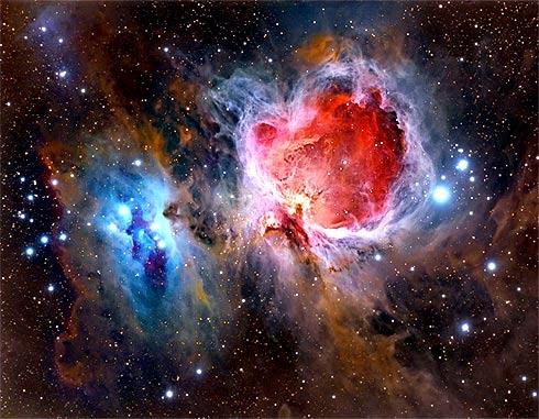 Nebulosa M42 e o trapézio de estrelas