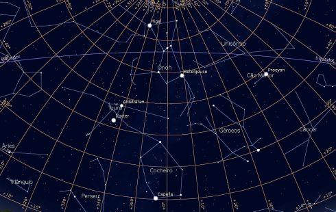 Carta Celeste Constelação de Orion