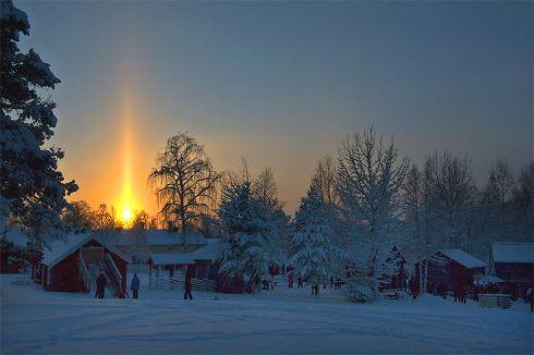 Pilar solar na Suecia