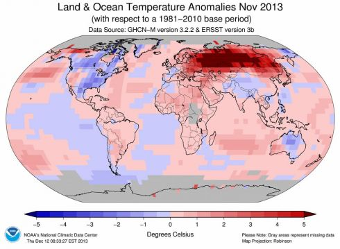 Temperatura novembro de 2013
