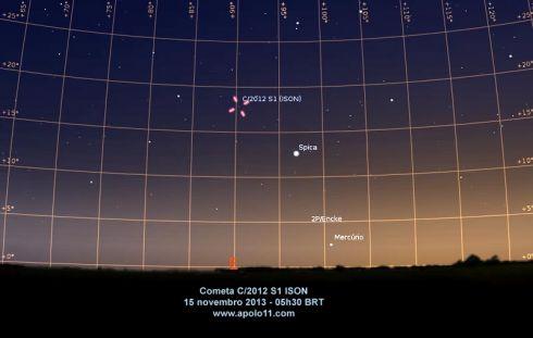 Carta celeste cometa ISON