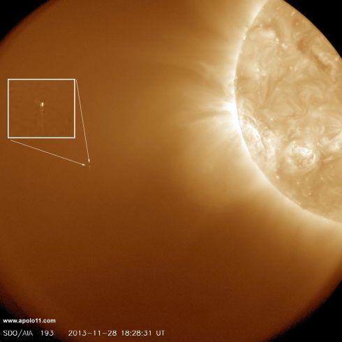 Cometa ISON visto pela sona SDO