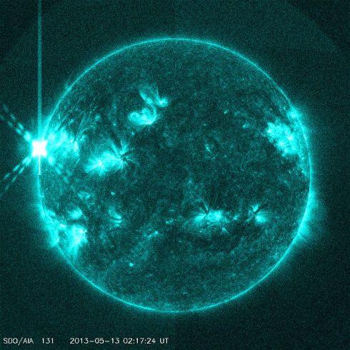 Imagem da Erupção solar de maio de 2013