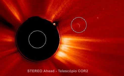 anomalia na imagem do satélite STEREO-A