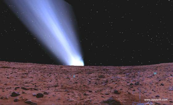 Aproximação hipotética do cometa Siding Spring
