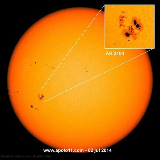 Mancha Solar AR 2104