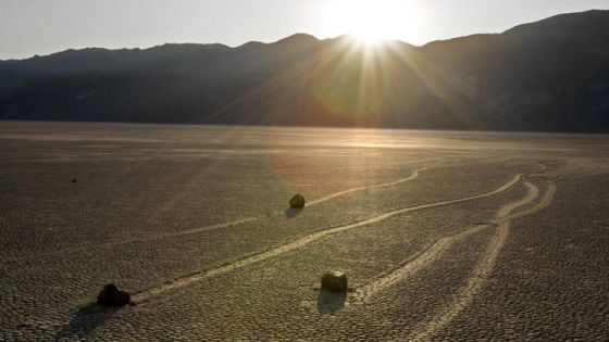 Pedras que andam na California