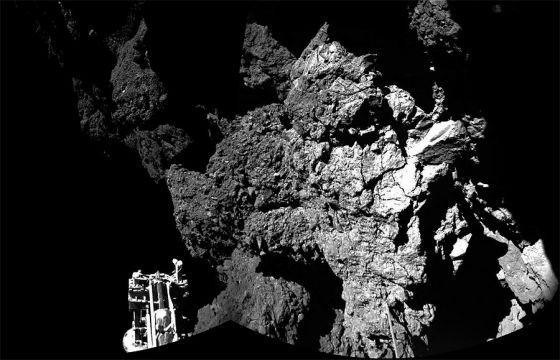 Sonda Philae na superfície do cometa 67/P