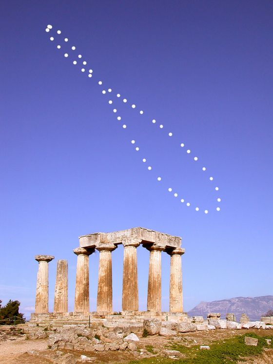 Analema na Grecia
