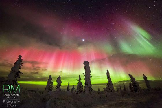 Aurora no Alasca - tempestade solar