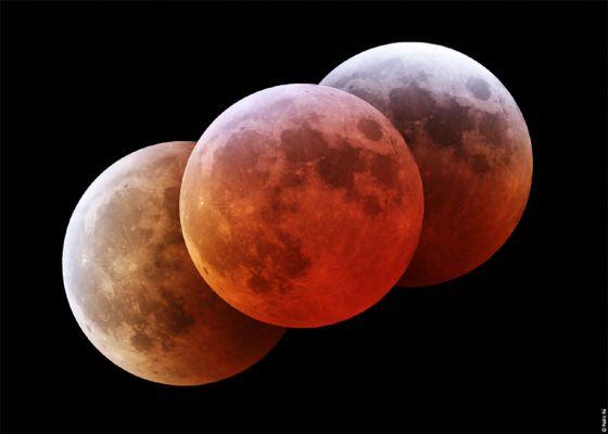 Fases de um eclipse lunar