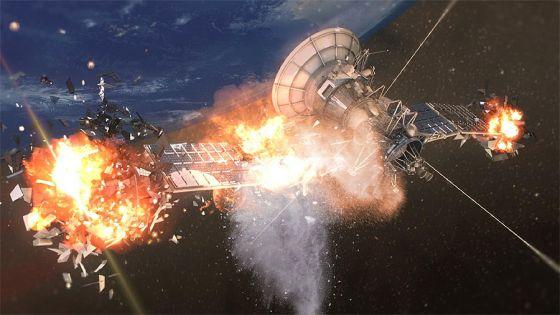 Explosao de satelite