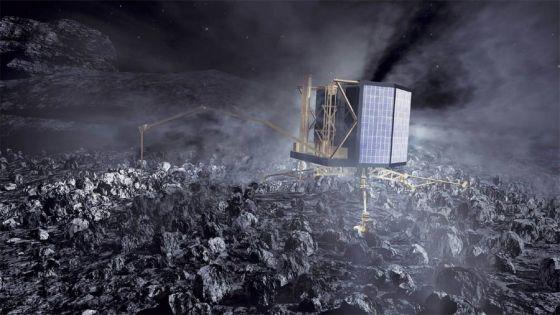 Nave Philae na superficie do cometa 67/P