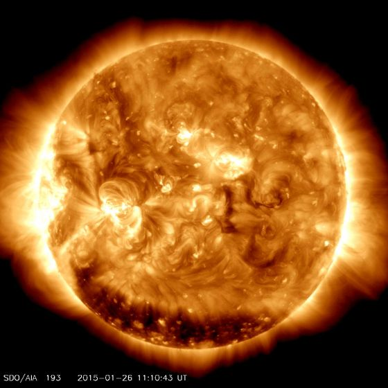 Atividade Solar caindo