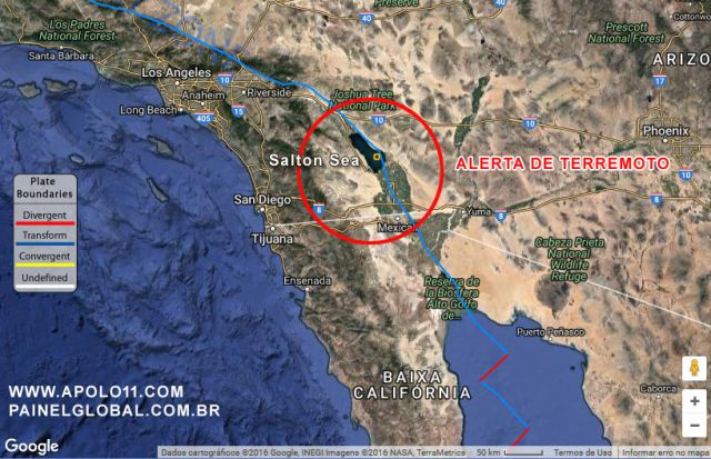 Alerta de Terremoto no California
