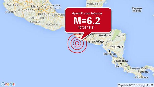 Forte terremoto atinge Guatemala, a 95 km de Champerico