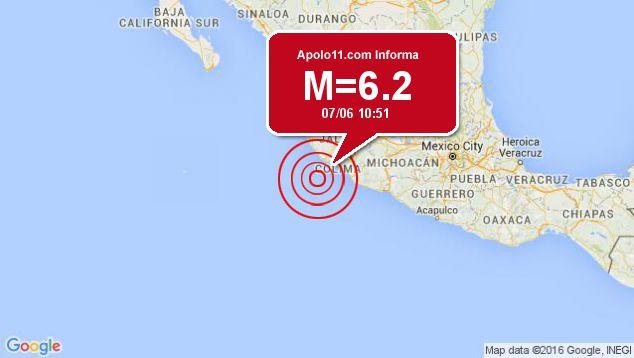 Forte terremoto sacode México, a 91 km de San Patricio