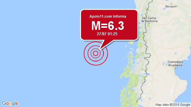 Forte terremoto sacode na região do Chile, em local incerto