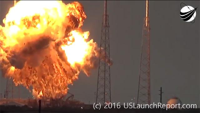 Explosao foguete Falcon 9