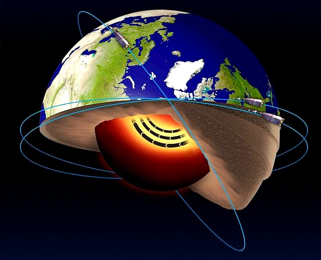 Jaot de Ferro no Nucleo da Terra