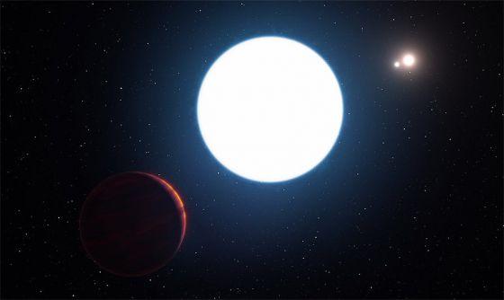HD 131399Ab - Planeta com tres sois