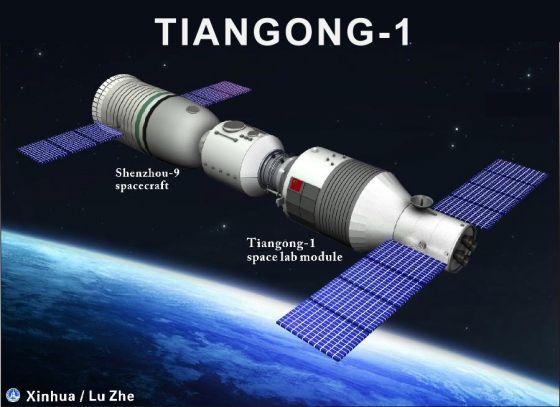 Estacao espacial chinesa Tiangong-1estapa