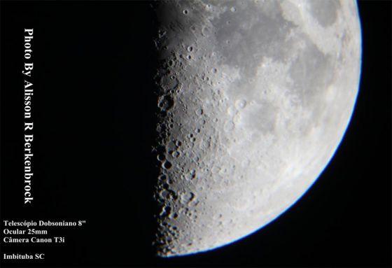 X Lunar registrado por Alisson Berkenbrock
