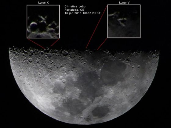 X Lunar registrado por Christine Leao