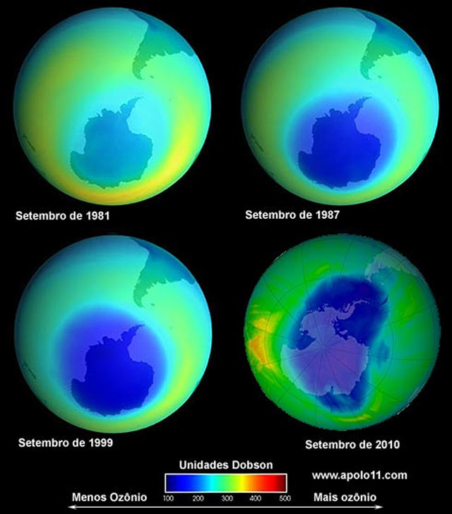 Evolucao do buraco na camada de ozonio