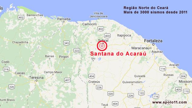 Tremores em Santana do Acarau