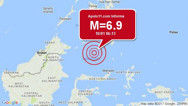 Forte terremoto sacode Filipinas, a 199 km de Tabiauan