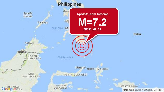 Forte terremoto atinge Filipinas, a 26 km de Balangonan