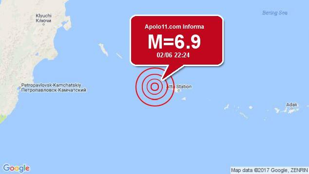 Forte terremoto atinge Alasca, a 185 km de Attu Station