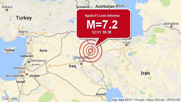 Forte terremoto sacode Iraque, a 32 km de Halabjah