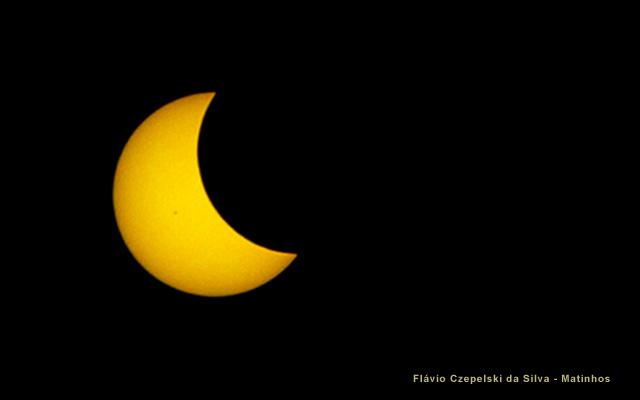 Eclipse solar em Matinhos