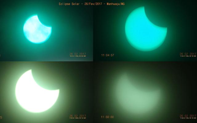 Eclipse solar em Manhucu