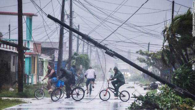 Furacao Irma em Havana