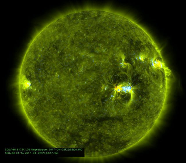 Mancha Solar AR2644 vista em ultravioleta