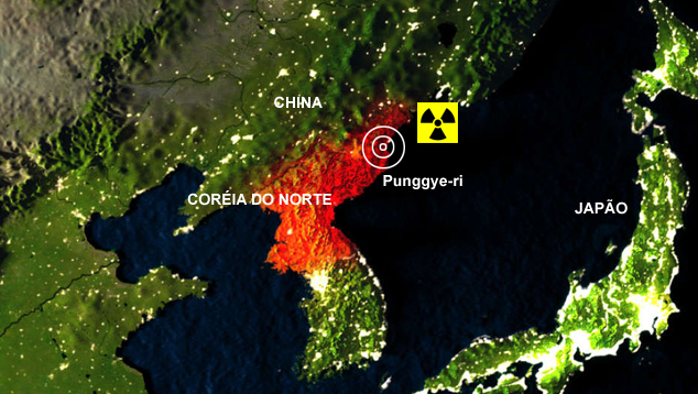 Local dos testes nucleares da Coreia do Norte