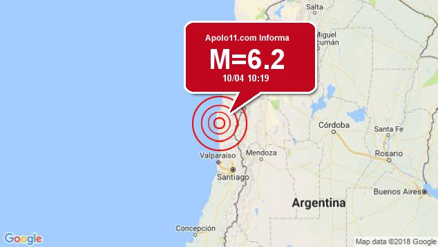 Forte terremoto sacode Chile, a 54 km de Ovalle