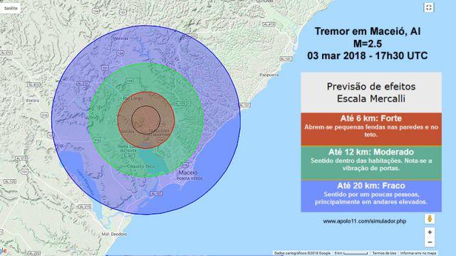 Efeitos do Terremoto em Maceio