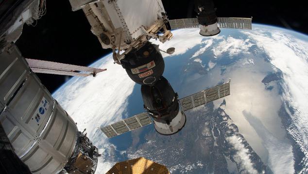 Terra vista a bordo da Estação Espacial Internacional (ISS). Crédito: NASA